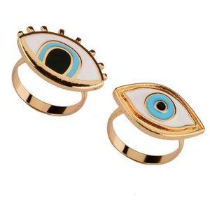 Set of Evil Eye Rings
